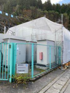 奈良県五条市 郵便局 足場組立