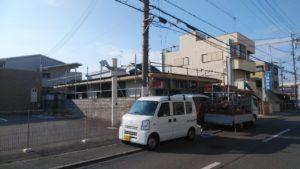 堺市  郵便局 足場組立