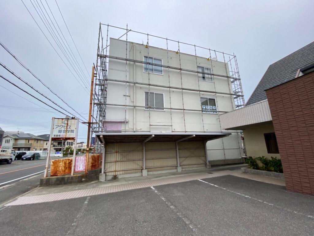 和歌山県有田市 空きビルの足場組立