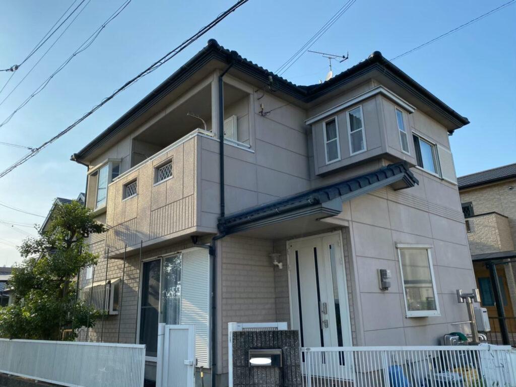 和歌山県岩出市 住宅の外壁塗装の足場組立