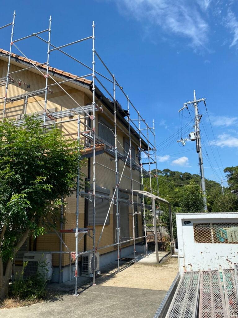 和歌山市 一戸建て住宅の塗装用の足場