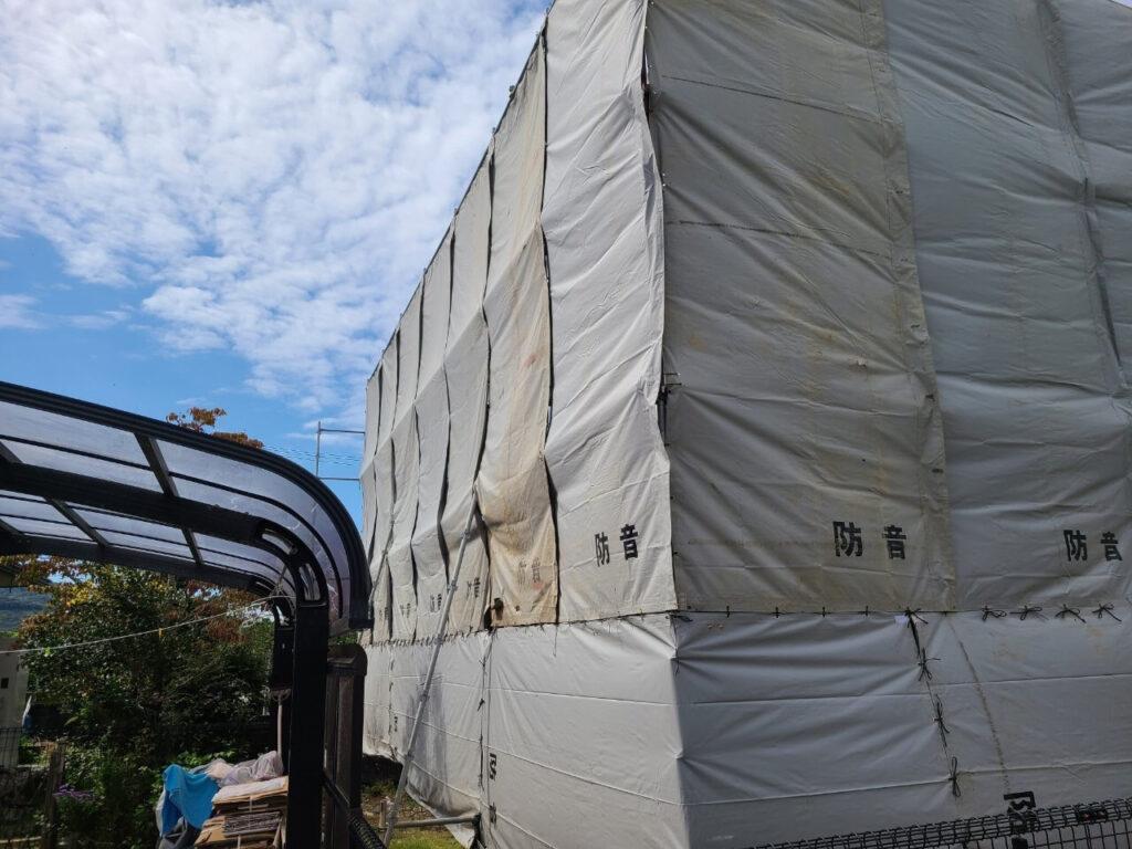 和歌山県有田川町 解体用の足場組立